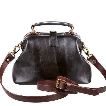 сумка женская ALEXANDER-TS W0013 black brown цена 6840