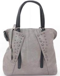 сумка LORETTA 7703-seryi-chernyi-EURO сумка женская в интернет магазине DESSA
