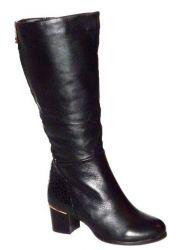 сапоги ASCALINI CZ11153BK обувь женская в интернет магазине DESSA