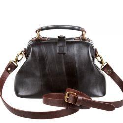 саквояж ALEXANDER-TS W0013-black-brown сумка женская в интернет магазине DESSA