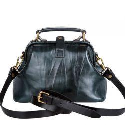 саквояж ALEXANDER-TS W0013-emerald-black сумка женская в интернет магазине DESSA