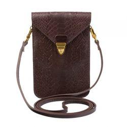клатч ALEXANDER-TS SW10-Brown-Piton1 сумка женская в интернет магазине DESSA