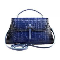 сумка ALEXANDER-TS W0029-Blue-Croco сумка женская в интернет магазине DESSA