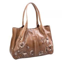 сумка ALEXANDER-TS W0032-Beige-Ptitcy-na-tcvetakh сумка женская в интернет магазине DESSA