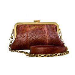 клатч ALEXANDER-TS KB0016_Cognac-Piton сумка женская в интернет магазине DESSA