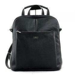 рюкзак SALOMEA 254_gladkii-chernyi сумка женская в интернет магазине DESSA