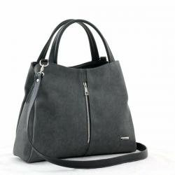 сумка SALOMEA 373-flok-grey-black сумка женская в интернет магазине DESSA