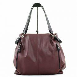 сумка SALOMEA 610-bordo-black сумка женская в интернет магазине DESSA