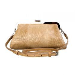 клатч ALEXANDER-TS KB0017-Beige-Piton сумка женская в интернет магазине DESSA